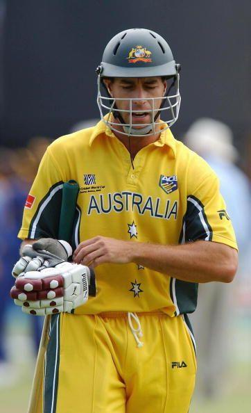 :  Australian batsman Michael Bevan walks off after having been dismissed for nought off the bowling of Sanath Jayasuriya