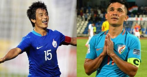 Sunil Chhetri overtook Bhaichung Bhutia's tally in the game against Chinese Taipei at the 2018 Intercontinental Cup