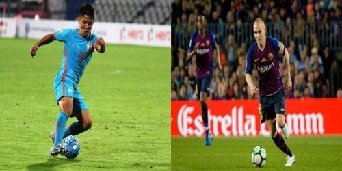 Sunil Chhetri was ranked twelve places ahead of Andres Iniesta