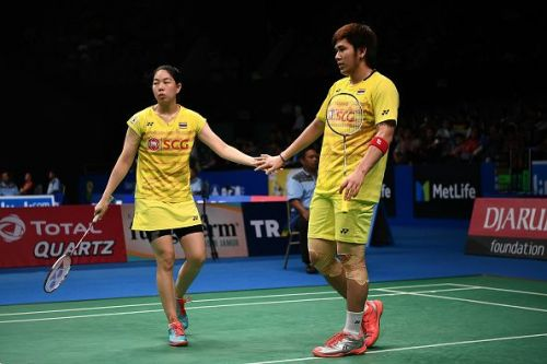 Bodin Isara (R) at the Indonesia Open