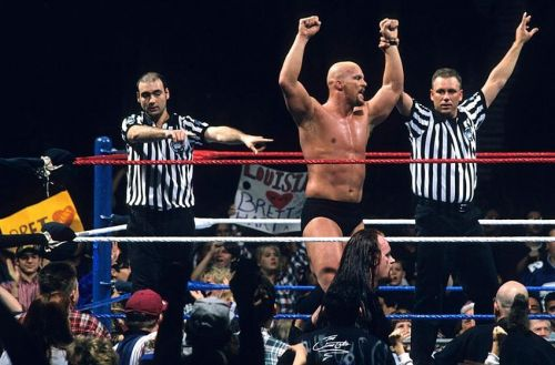 Steve Austin has won three Royal Rumble matches throughout his career