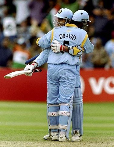 Dravid and Ganguly duo has scored firstever 300+ partnership in ODI cricket