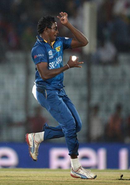 Ajantha Mendis during Sri Lanka v Netherlands - ICC World Twenty20 Bangladesh 2014