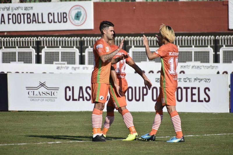 NEROCA FC players celebrating a goal