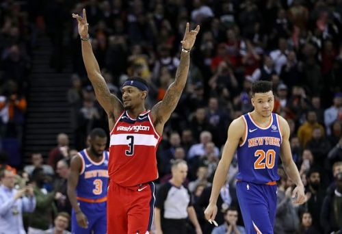 Beal scored 26 points, had nine rebounds and four assists against the Knicks