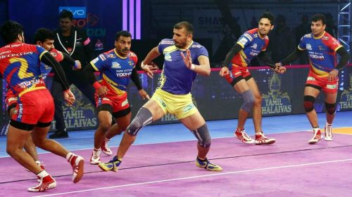 Ajay Thakur was yet again the lone spark for the Thalaivas