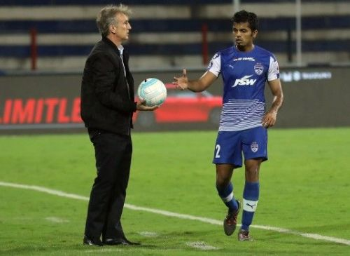 Rahul Bheke in action for Bengaluru FC