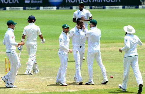 Kagiso Rabada was in sizzling form on helpful pitches at home