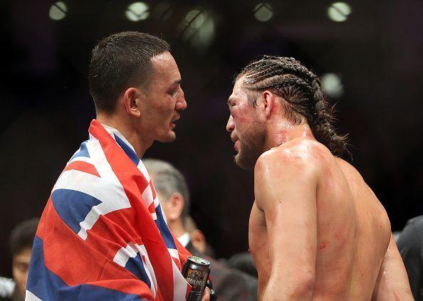 Max Holloway consoles Brian Ortega post fight