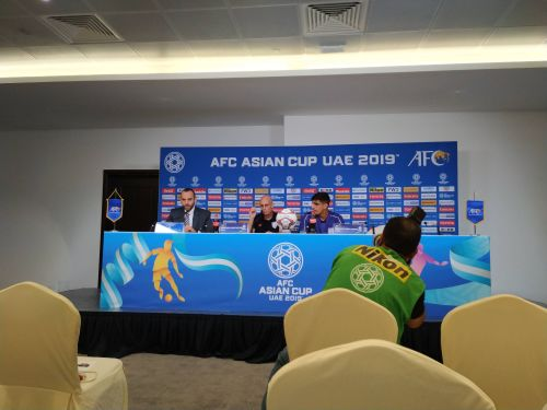Stephen Constantine and Gurpreet Singh Sandhu during the press conference
