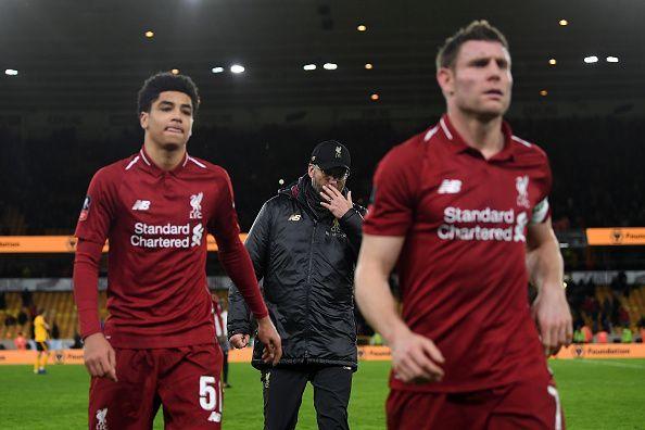 Wolverhampton Wanderers sent Liverpool back home after the third round
