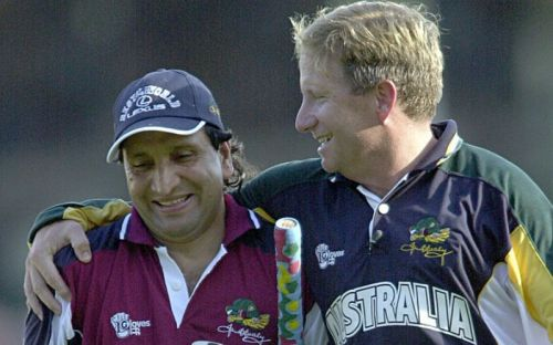 Abdul Qadir (left) of Pakistan was one of the best spinners of his age
