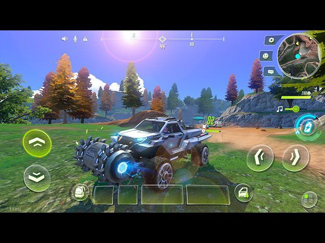 The game has a variety of awesome vehicles.
