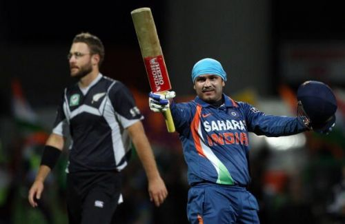 Virender Sehwag was at his belligerent best on tough conditions in New Zealand