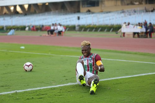 Sony Norde scored a wonderful goal from a free-kick but that wasn't enough for Mohun Bagan to pick up a victory over Real Kashmir