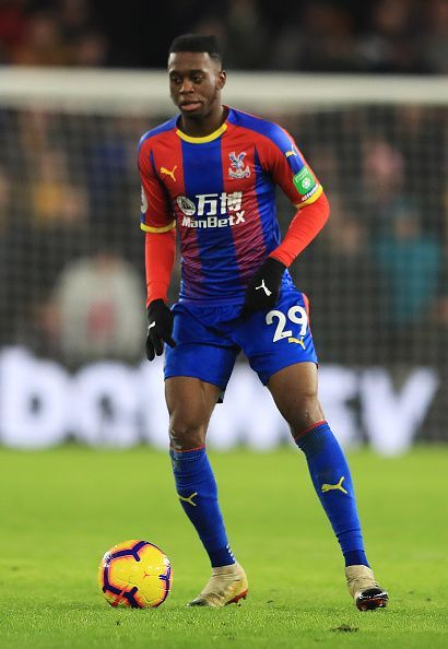 Aaron Wan-Bissaka in action for Crystal Palace this season.