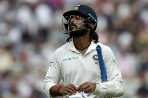 Murali Vijay walks back in disappointment