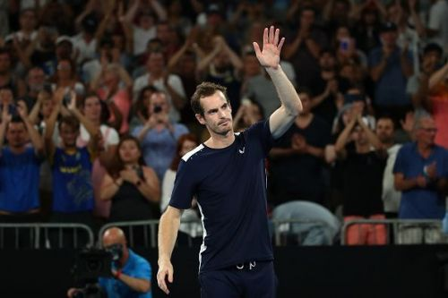 Andy Murray acknowledges the crowd after his exit from the Australian Open 2019