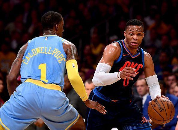8af2582cfd1e NBA 2018-19  Los Angeles Lakers vs Oklahoma City Thunder