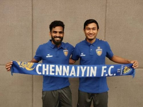CK Vineeth and Halicharan Narzary (Photo: Chennaiyin FC)