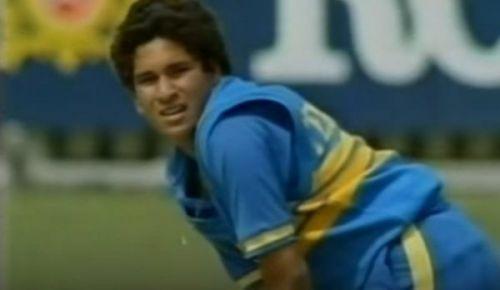 It was Sachin Tendulkar's third ODI match.