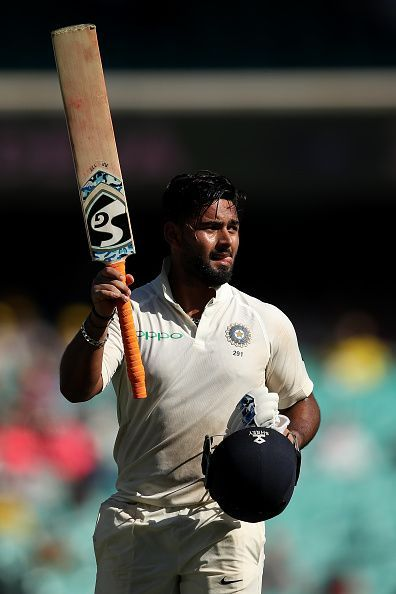 Pant soaking in the applause after scoring 159*