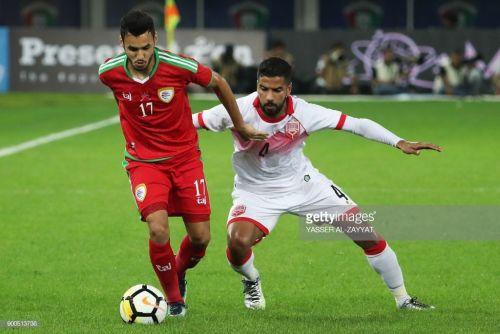 Bahrain's Sayed Dhiya Saeedin the white jersey