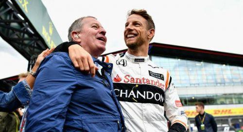 Martin Brundle with ex McLaren Driver Jenson Button