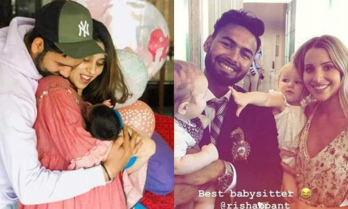 Rohit asks Pant to babysit his daughter
