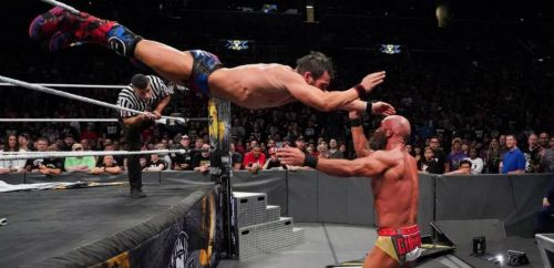 Johnny Gargano and Tommaso Ciampa in battle