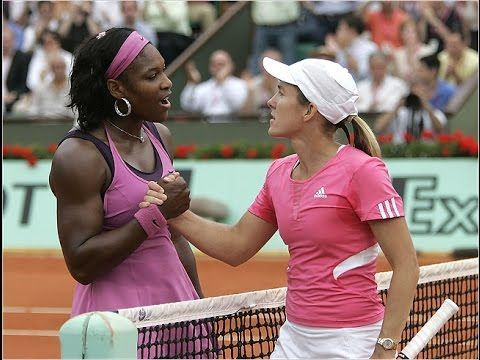 Serena (left) and Henin had a great rivalry