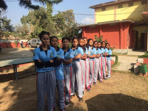 Young girls in Cricket Corner's jersey, supporting the campaign