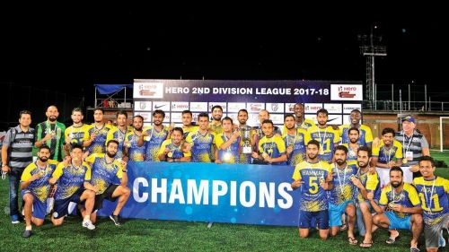 Real Kashmir FC, currently playing in the I-League, lifted the Second Division League trophy last season (Image: I-League official website)