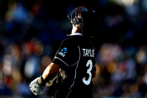 Ross Taylor during New Zealand v India - ODI Game 2