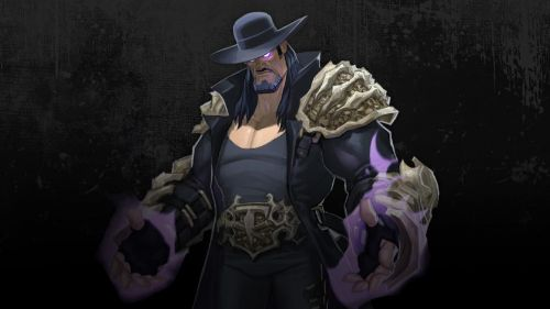 Concept art of The Undertaker in WWE Brawl