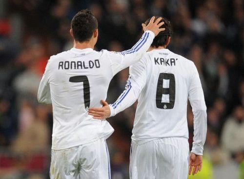 Cristiano Ronaldo and Ricardo Kaka played together at Real Madrid