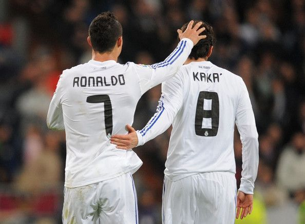 Cristiano Ronaldo and Ricardo Kaka played together at Real Madrid
