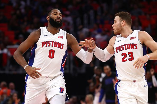 Drummond and Griffin in action against the Atlanta Hawks earlier this season