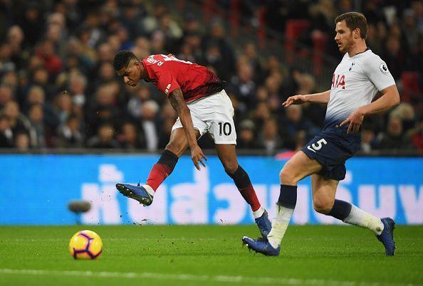 Tottenham Hotspur v Manchester United - Rashford Sends One in