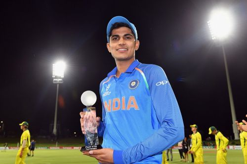 Gill was named the Player of the Series in the Under 19 World Cup