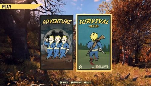 Image result for fallout 76 survival mode beta