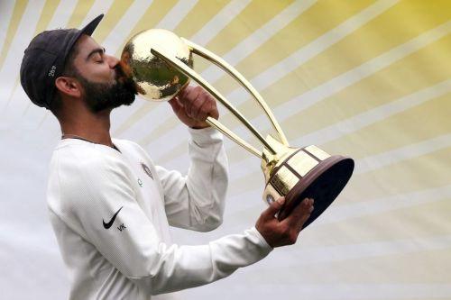 Image result for Virat KOhli border gavaskar trophy