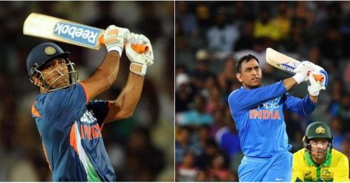MS Dhoni in 2009 and 2019