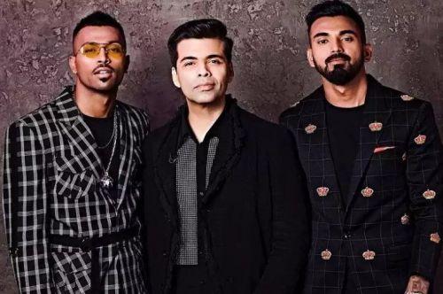 Pandya and Rahul with Karan