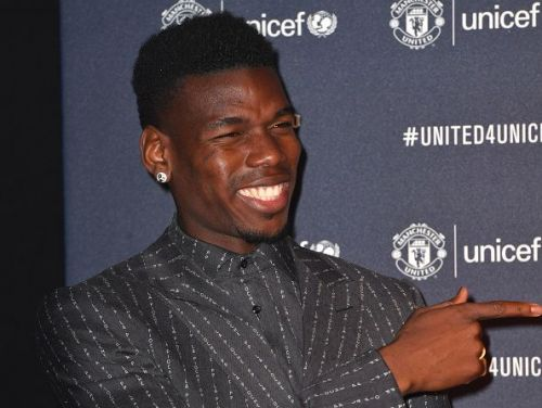 Paul Pogba at the United for Unicef Gala Dinner