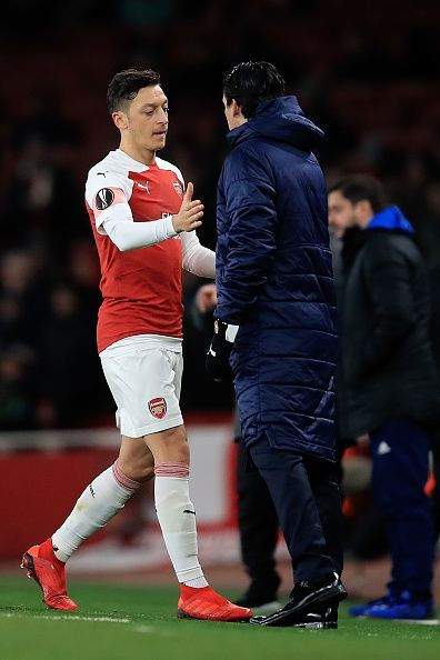 Ozil and Emery haven't had the best of relationships