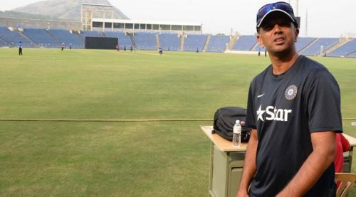 Dravid during an India A team match