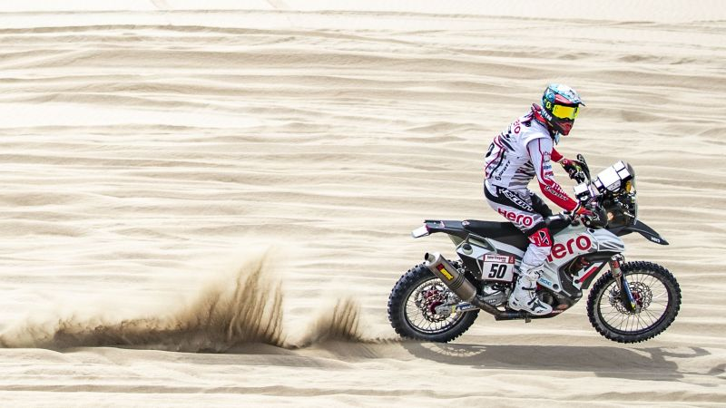 Santosh CS in action - Stage 2 - Dakar 2019