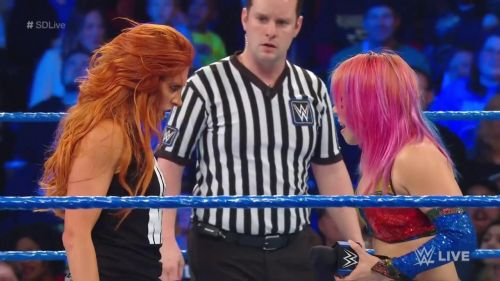 Asuka was not to be overshadowed by Becky