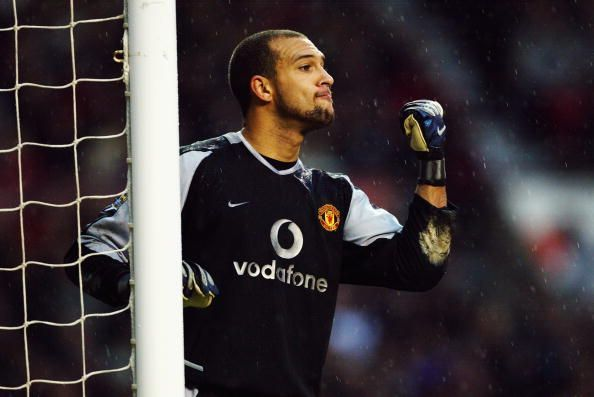 Tim Howard of Manchester United in action